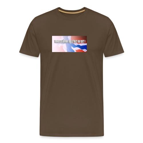 Stoltnorsk - Premium T-skjorte for menn