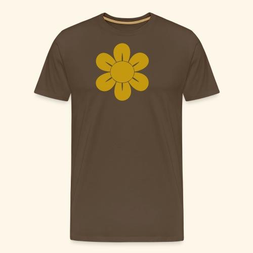 Retro Blomst - Herre premium T-shirt