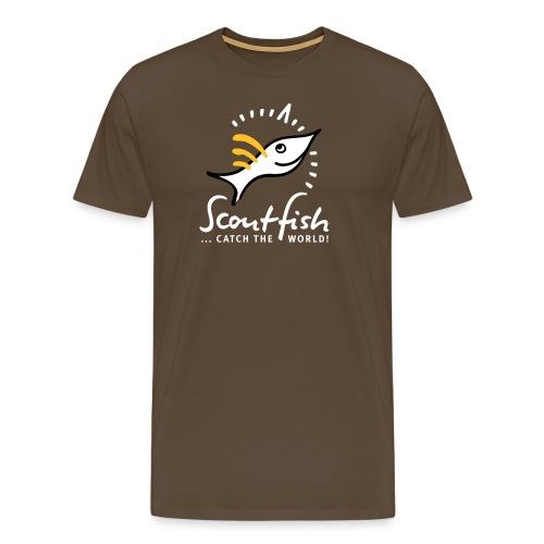 kompassscoutfishslogan - Männer Premium T-Shirt