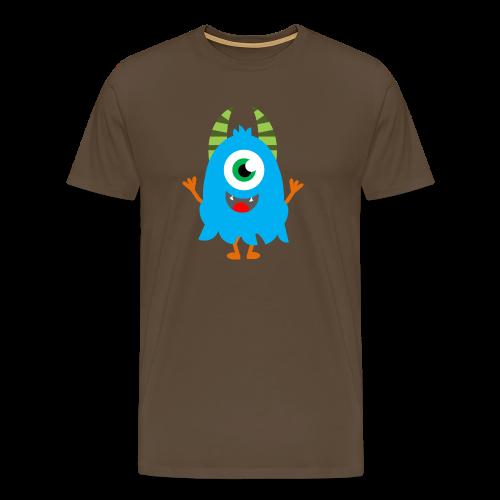 Lachendes Blaues Monster - Männer Premium T-Shirt