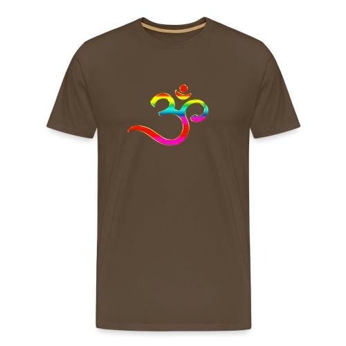 Om Mantra Symbol Yoga Regenbogen - Männer Premium T-Shirt