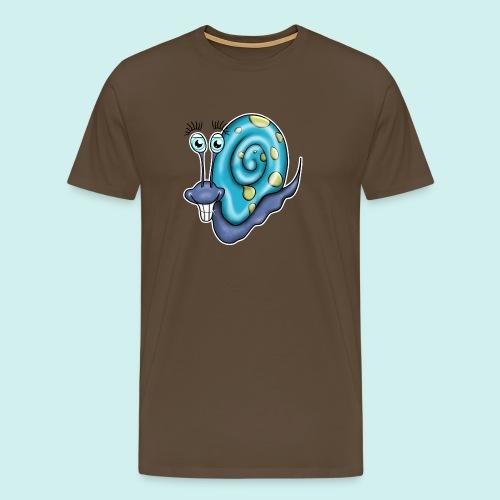 Schnecke Comic blau - Männer Premium T-Shirt