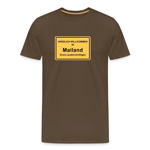 Ortsschild Mailand - Männer Premium T-Shirt