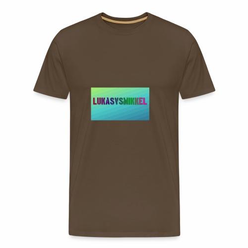 LukasvsMikkel banner - Herre premium T-shirt