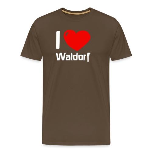 I love Waldorf - Männer Premium T-Shirt