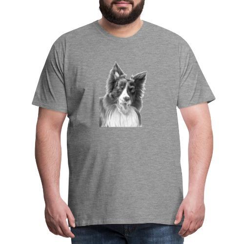border collie 3 - Herre premium T-shirt