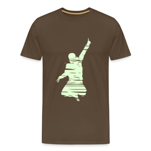 Jumping Man Schraffur - Männer Premium T-Shirt