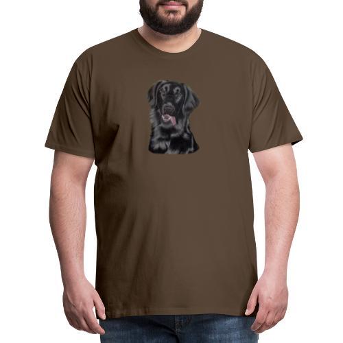 flatcoated retriever pastels - Herre premium T-shirt