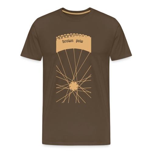 brown pow2 - Men's Premium T-Shirt