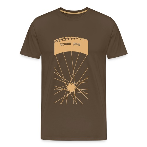 brown pow2 - Men's Premium T-Shirt