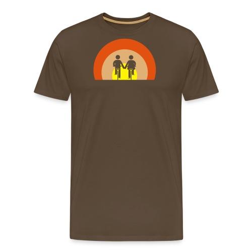 bike romance sundown - Männer Premium T-Shirt