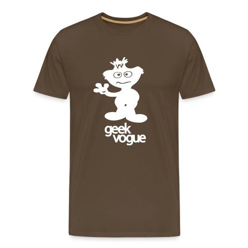 tufty white on black small2 - Men's Premium T-Shirt