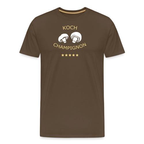 Kochschürze Koch Champignon 06© by kally ART® - Männer Premium T-Shirt
