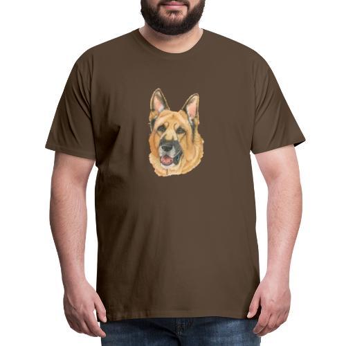 german shepherd color - Herre premium T-shirt