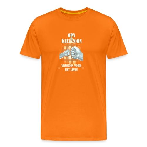 Opa & Kleinzoon vrienden voor het leven - Mannen Premium T-shirt