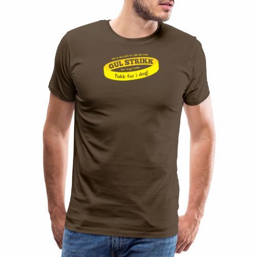 Gul strikk - Premium T-skjorte for menn