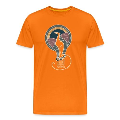 italian sighthound jugendstil 7 - Mannen Premium T-shirt