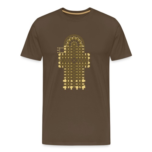 Kölner Dom, Grundriss - Männer Premium T-Shirt