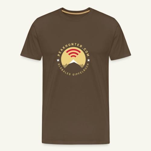 Peakhunter Globales Gipfelbuch - Männer Premium T-Shirt