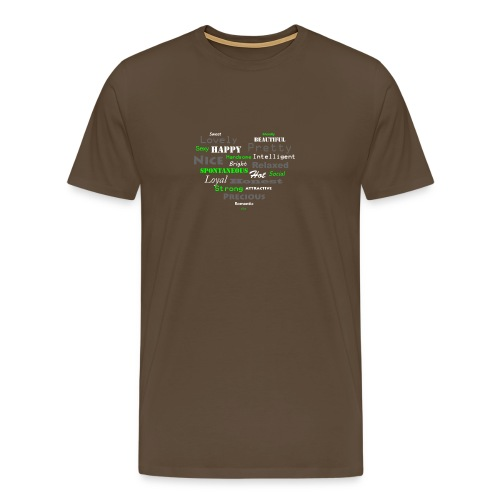 hart met tekst groot.png - Mannen Premium T-shirt