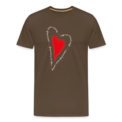 Ullihunde- Herz - Männer Premium T-Shirt