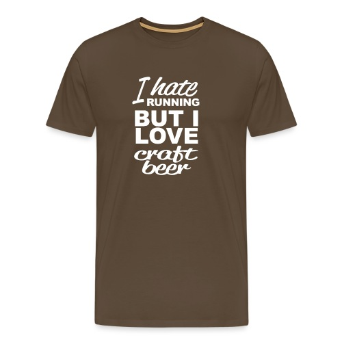 I Love craft beer - Mannen Premium T-shirt