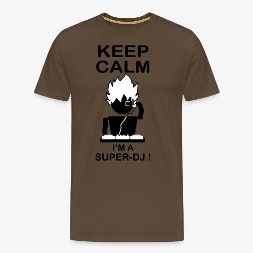 KEEP CALM SUPER DJ B&W - T-shirt Premium Homme