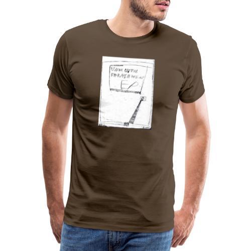 unbequem fernsehen - Men's Premium T-Shirt