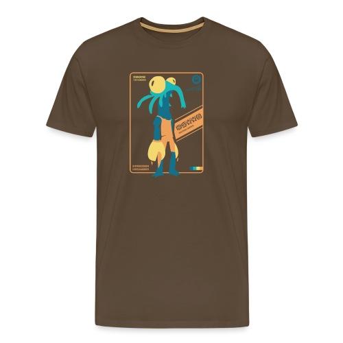 Alien Card [BLARG] - Mannen Premium T-shirt