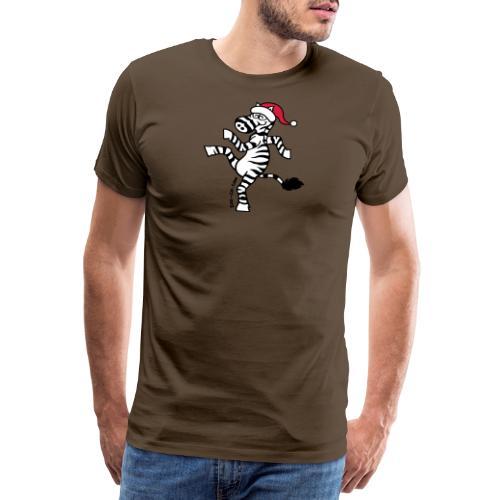 Christmas Zebra - Men's Premium T-Shirt