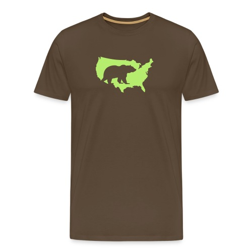 USA Amerika America Grizzly Baer Teddy Bär - Men's Premium T-Shirt