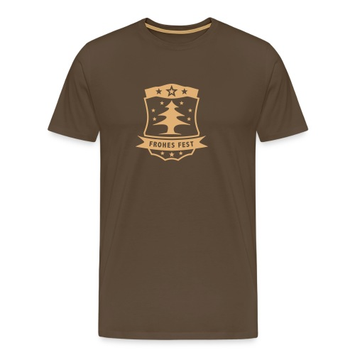 Frohes Fest Wappen - Männer Premium T-Shirt