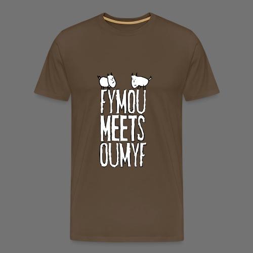 Fymou täyttää Oumyf (valkoinen täysi print) - Miesten premium t-paita