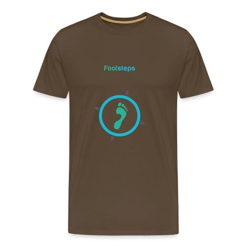 Footsteps Schriftzug einzeln png - Männer Premium T-Shirt