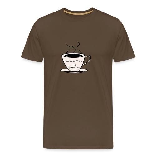 kaffe - Premium-T-shirt herr