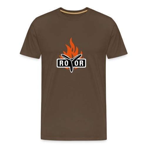 ROTOR Band Logo Fire - Männer Premium T-Shirt