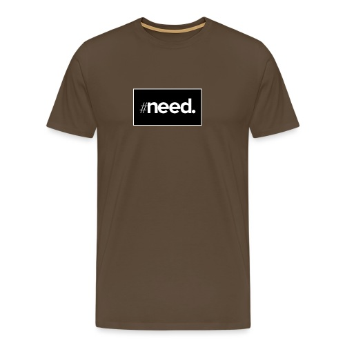 logo need official bg black - T-shirt Premium Homme