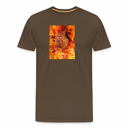 Norwegische Waldkatze Jacky - Männer Premium T-Shirt