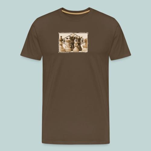 schachfiguren albumin - Männer Premium T-Shirt