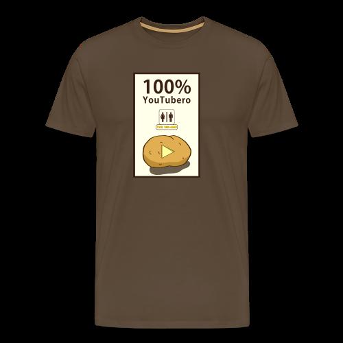 100% YouTubero WC-Man - Maglietta Premium da uomo