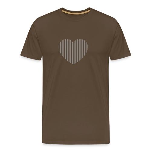 heart_striped.png - Men's Premium T-Shirt