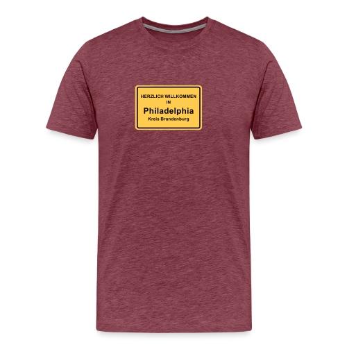 Ortsschild Philadelphia - Männer Premium T-Shirt