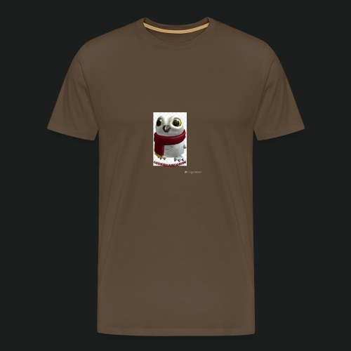 Merch white snow owl - Mannen Premium T-shirt