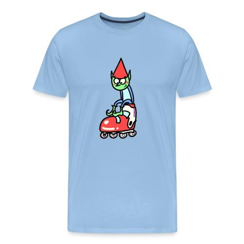 El gnomo en el patín - Camiseta premium hombre