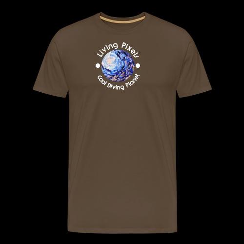 Living Pixels, Cool Diving Planet, Tauchen, hell - Männer Premium T-Shirt
