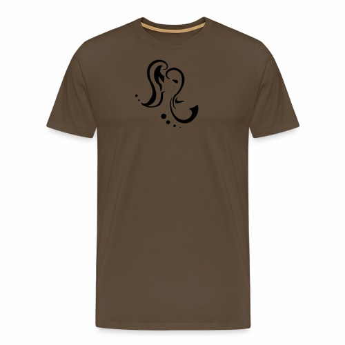 Elephant, purple tribal design - Men's Premium T-Shirt