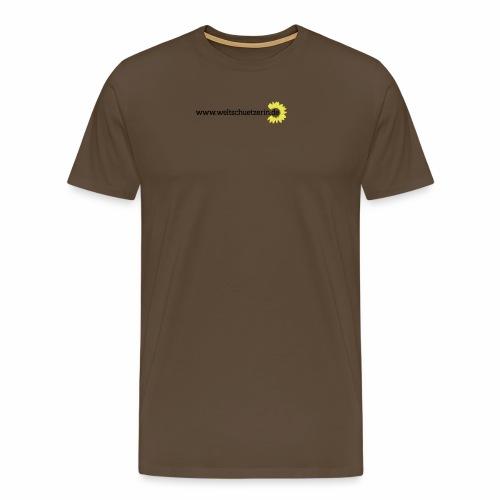 Weltschützerin Rücken - Männer Premium T-Shirt