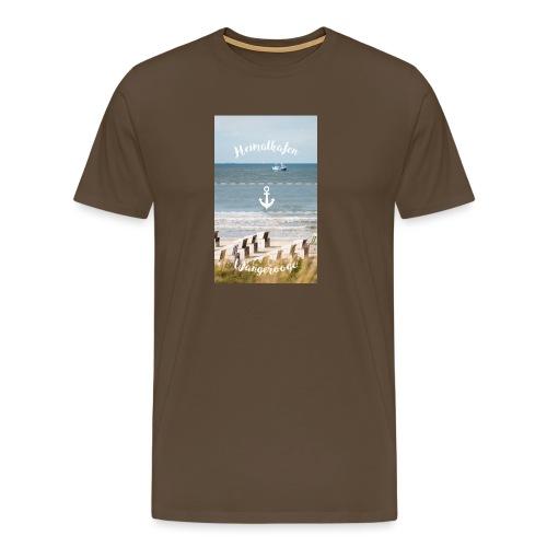 Heimathafen Wangerooge - Männer Premium T-Shirt