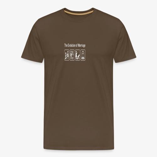 EVOLUTION OF MARRIAGE WEDDING T SHIRT - Men's Premium T-Shirt