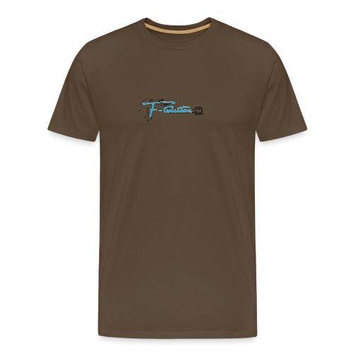 F-Guitar_fond_clair_T-Shirt - T-shirt Premium Homme
